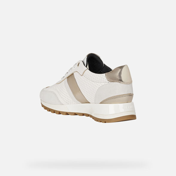 SNEAKERS WOMAN GEOX TABELYA WOMAN - WHITE AND OFF WHITE