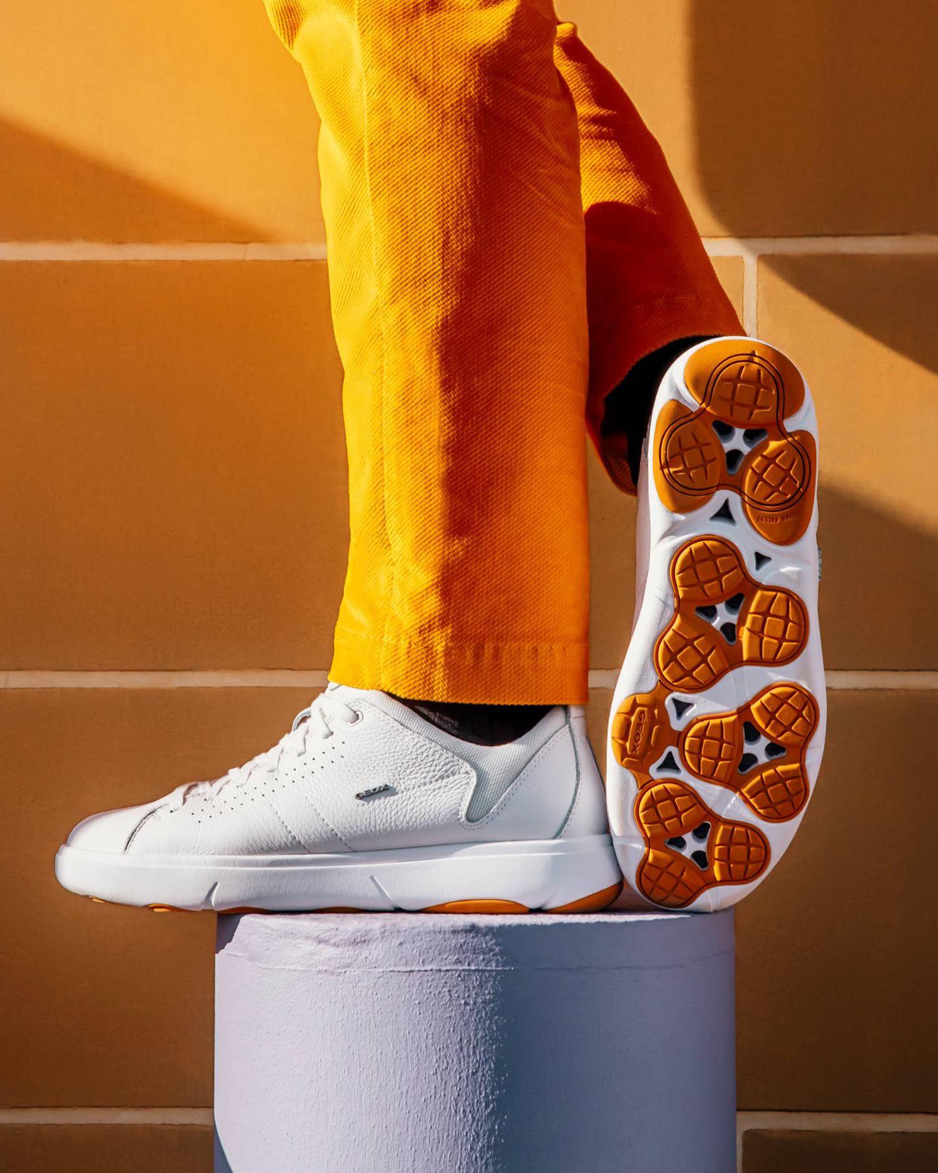 Geox NEBULA Y Man: White Sneakers