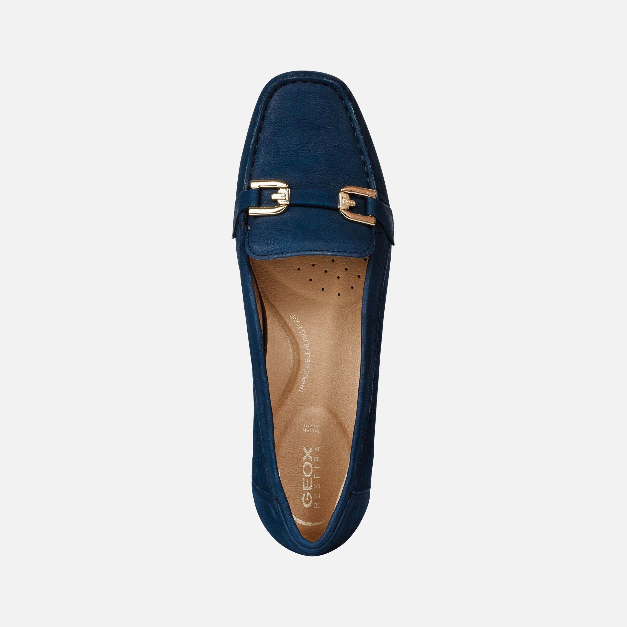 Geox D ANNYTAH MOC: Blue Woman Moccasins | Geox