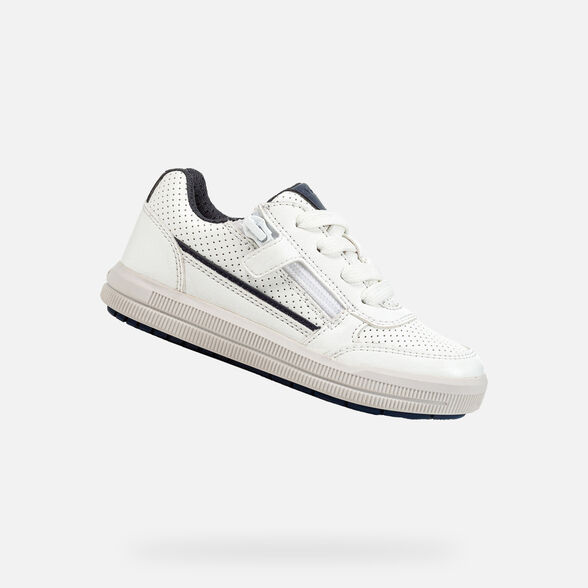 SNEAKERS BOY GEOX ARZACH BOY - WHITE AND BLUE