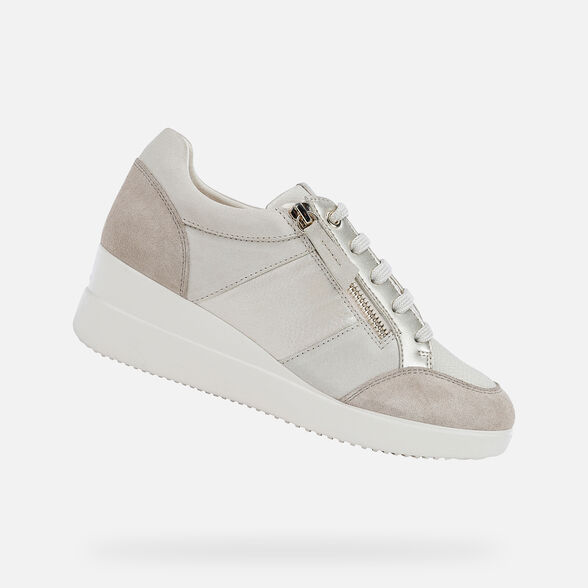 Odio Contemporáneo En lo que respecta a las personas  Geox STARDUST Mujer: Sneakers Crema | Geox ®