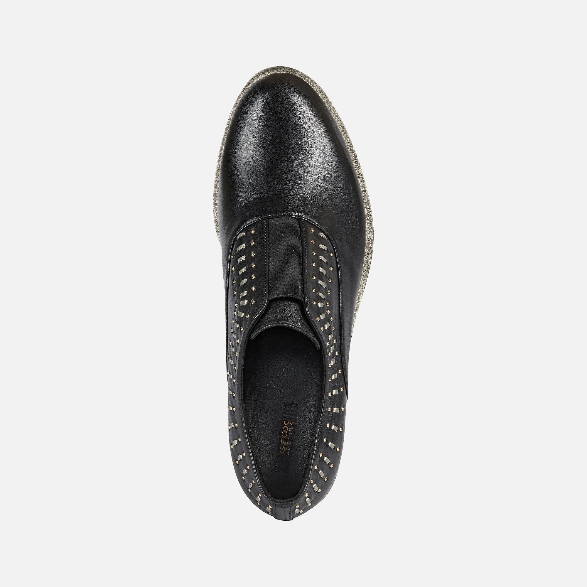 Geox BROGUE S Damen: Schwarze Schuhe   Geox® Online