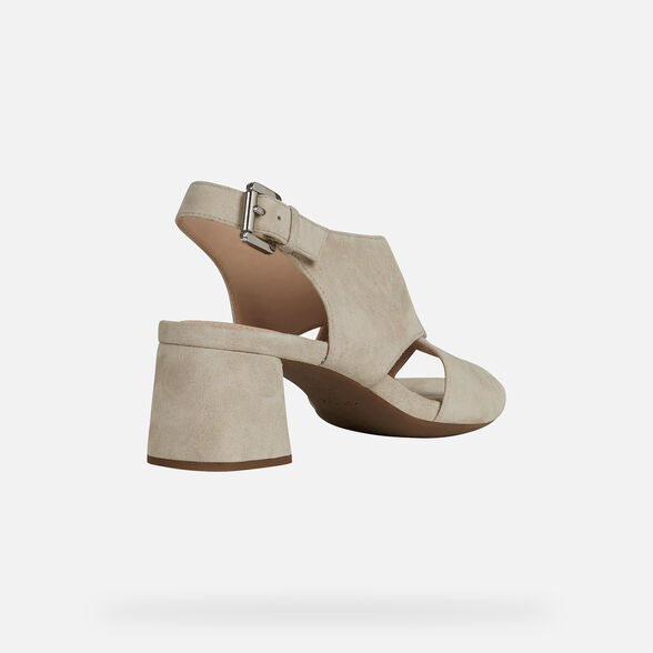 SANDALES FEMME GEOX GENZIANA FEMME - TAUPE CLAIR