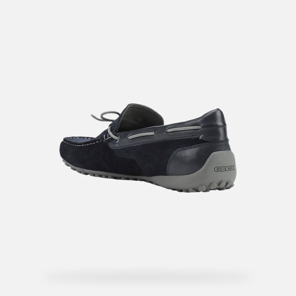 LOAFERS MAN GEOX SNAKE MAN - NAVY