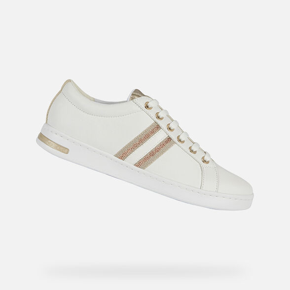 extraer Fragua Incompetencia  Geox JAYSEN Woman: White Sneakers | Geox ® Official Store