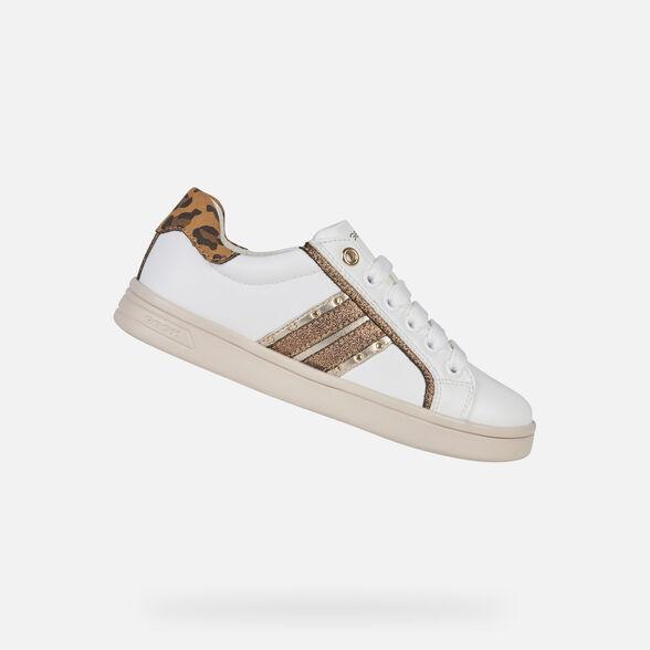 außergewöhnliche Farbpalette Temperament Schuhe Verkaufsförderung Geox DJROCK Junior Girl: White Sneakers | Geox®