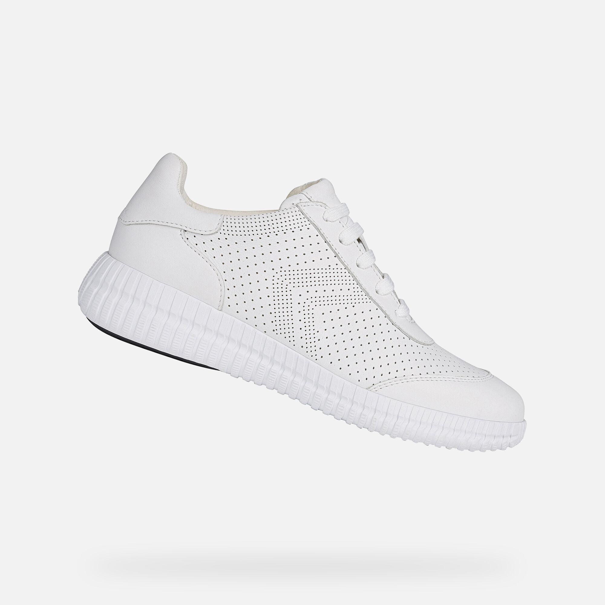 Geox NOOVAE Woman: White Sneakers