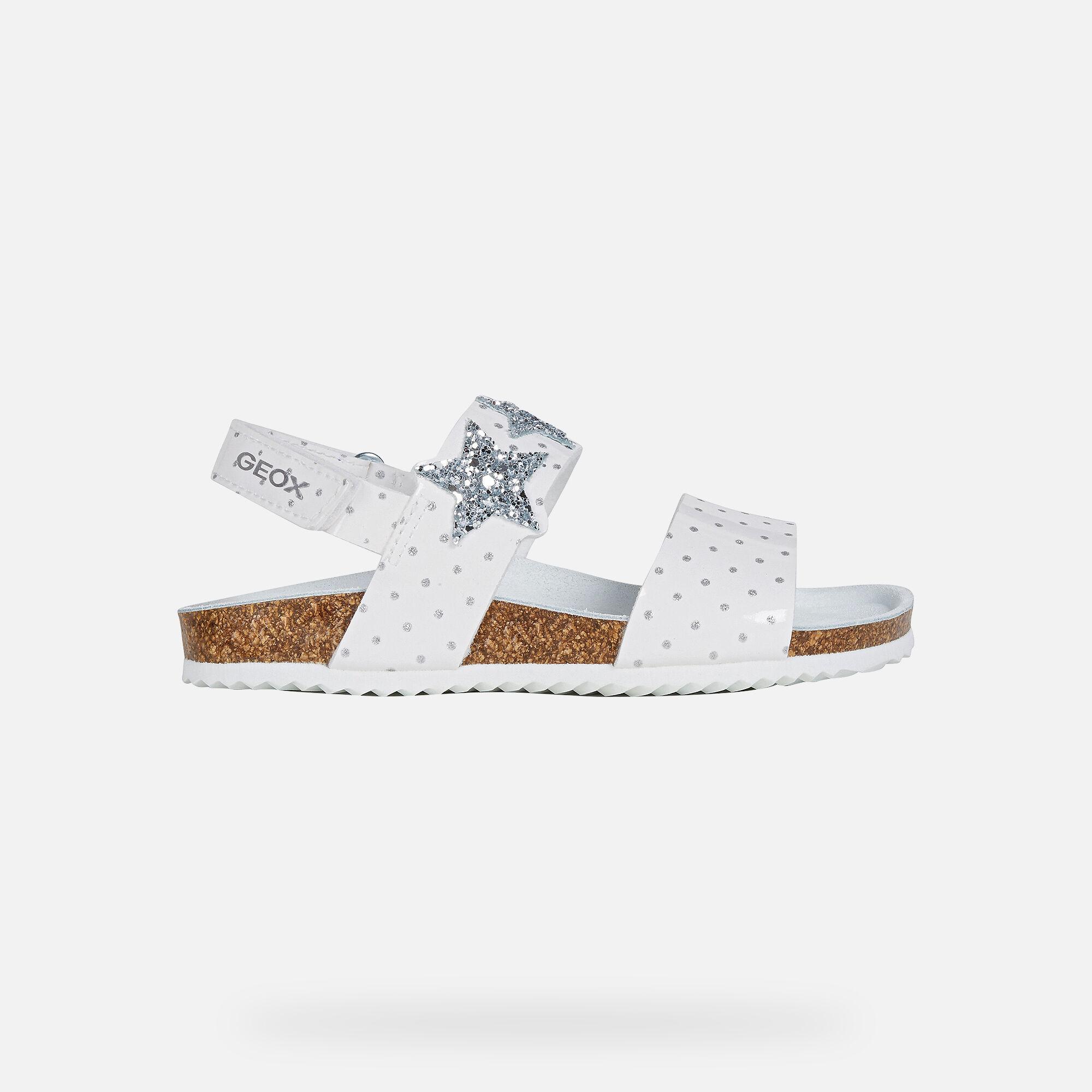 Geox ADRIEL GIRL: Weiß Sandalen | Geox ®