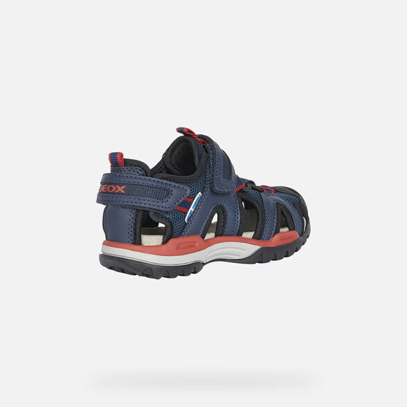 SANDALS BOY GEOX BOREALIS BOY - NAVY AND RED