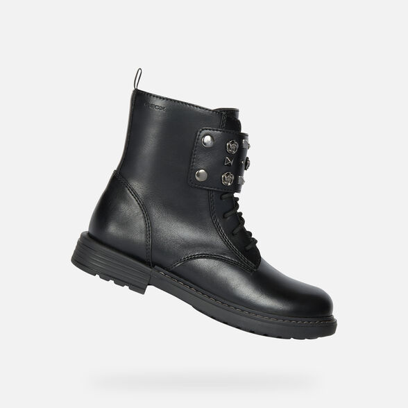 more photos 7dec4 12eff Geox ECLAIR Junior Girl: Black Ankle Boots   Geox ® FW 19/20