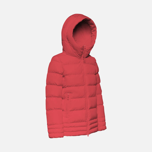 DOWN JACKETS WOMAN GEOX ASHEELY WOMAN - RED DAHLIA