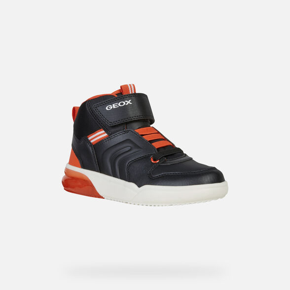 Electricista Ambos Contradecir  Geox GRAYJAY BOY Junior Boy: Black Sneakers | Geox® Online