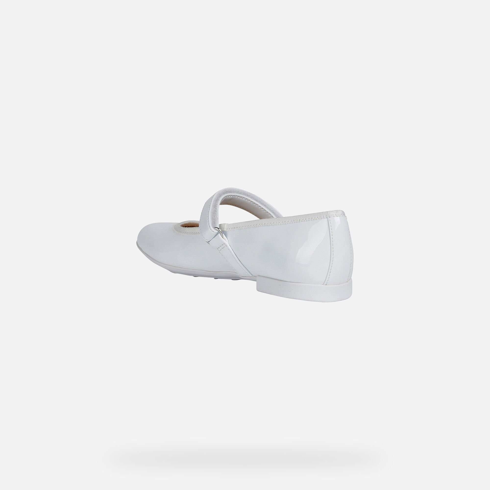 Geox PLIE' Girl: White Ballerinas | Geox ® Official Store