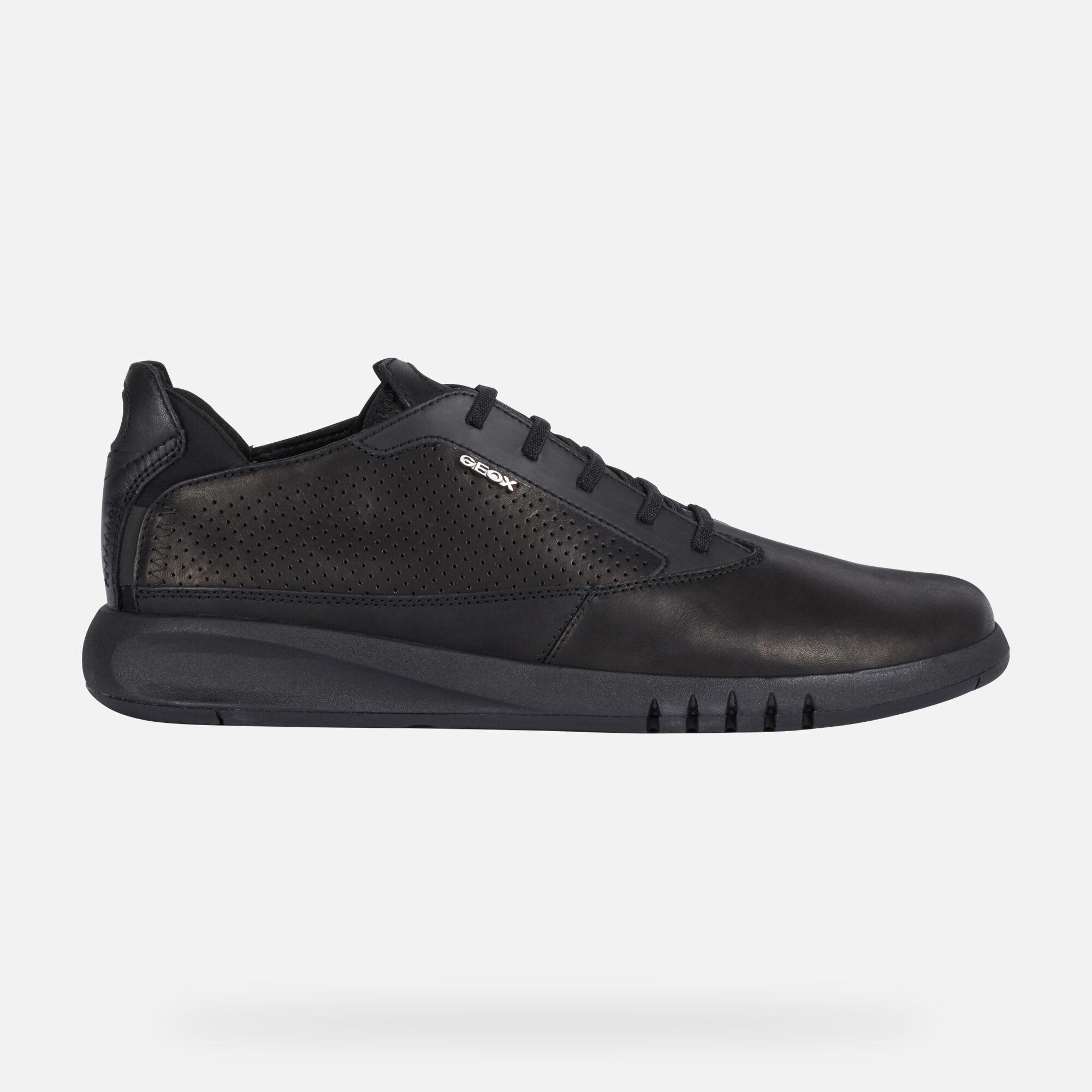 Geox AERANTIS Man: Black Sneakers