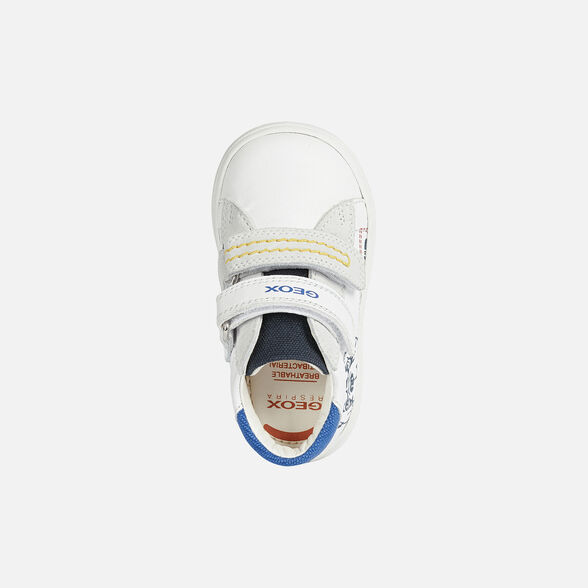 FIRST STEPS BABY GEOX BIGLIA BABY BOY - WHITE