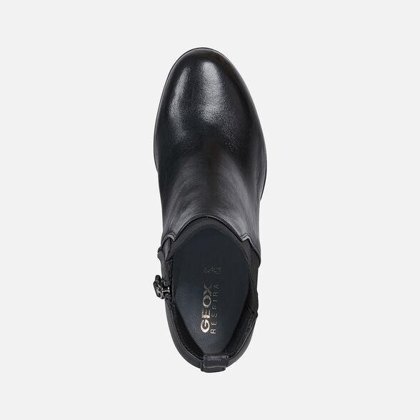 representante frio Juramento  Geox ANYLLA HIGH Woman: Black Ankle Boots | Geox® FW20/21