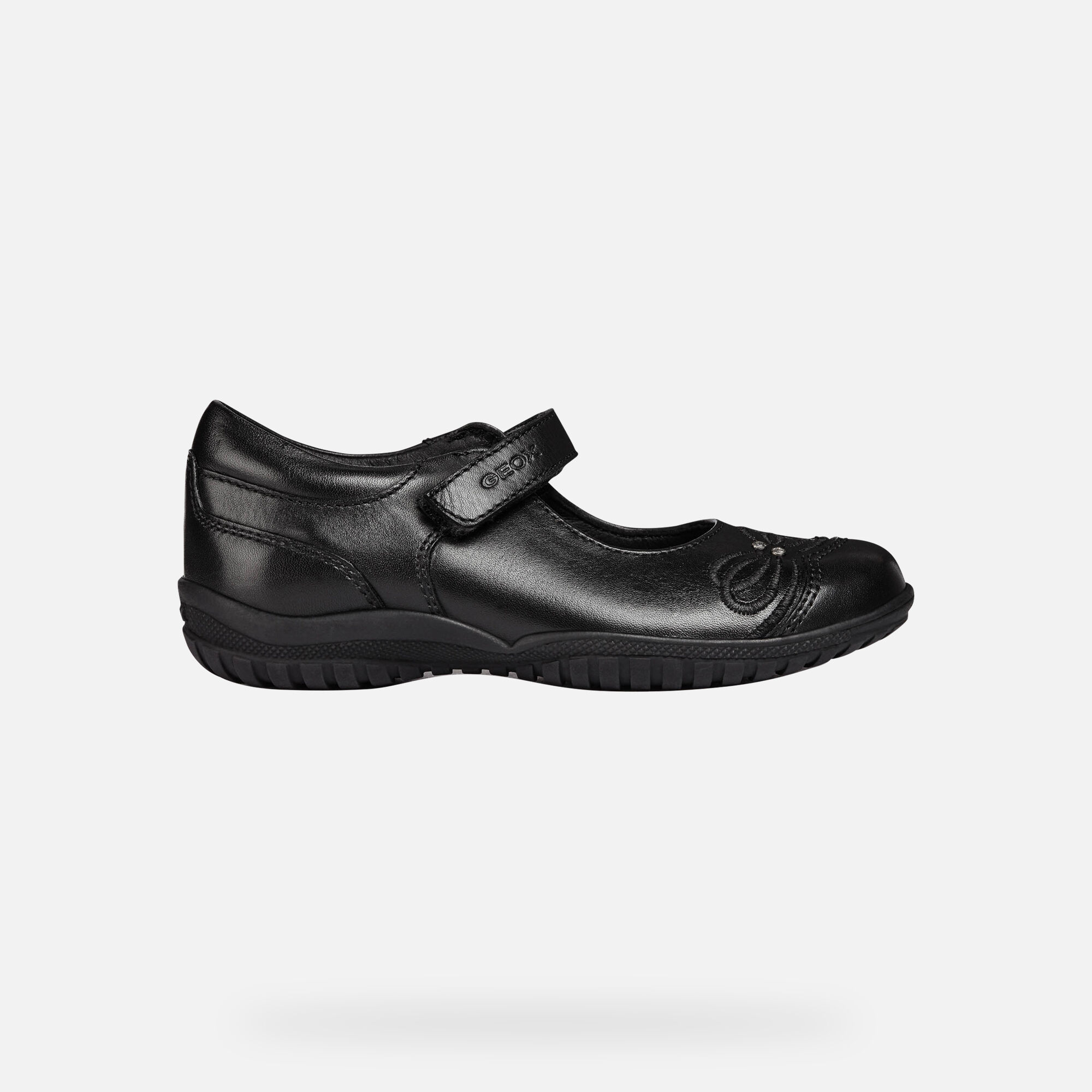 Geox JR SHADOW: Black Junior Girl Ballerina | Geox