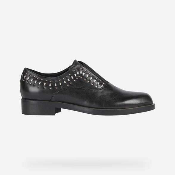 No lo hagas Factura En consecuencia  Geox BROGUE S Mujer: Zapatos Negros | Geox® Online