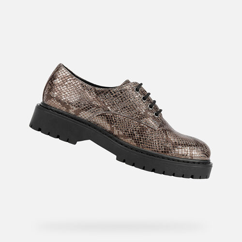 LACE UPS AND BROGUES WOMAN GEOX BLEYZE WOMAN - null