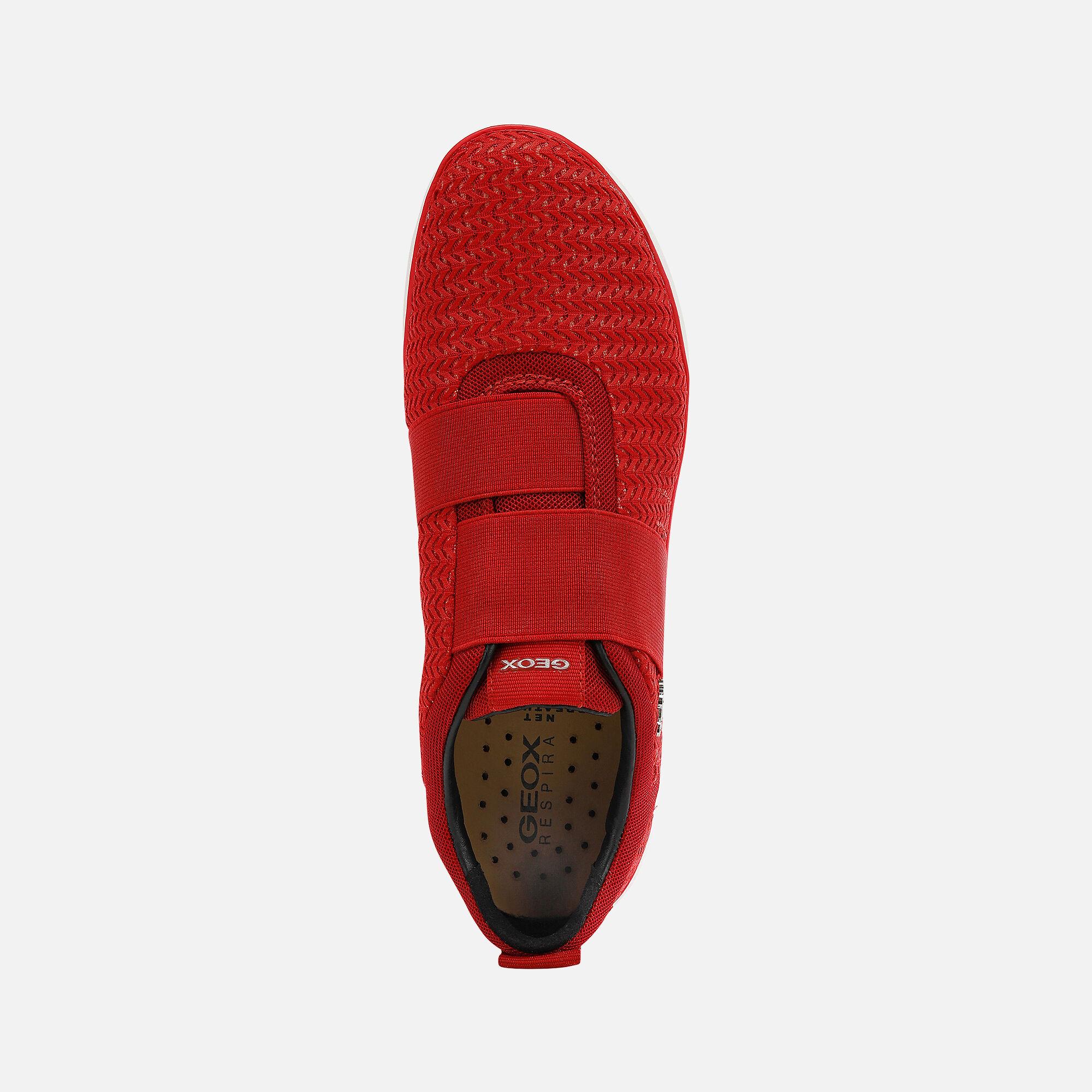 Geox NEBULA Woman: Red Sneakers | Geox