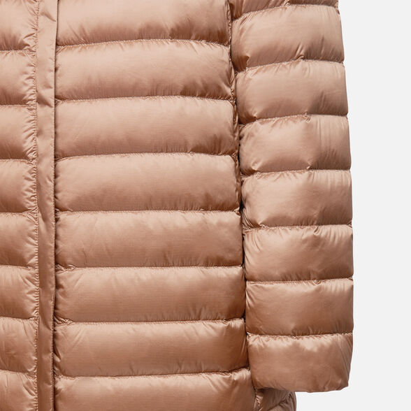 DOWN JACKETS WOMAN GEOX JAYSEN WOMAN - RAW UMBER AND POMEGRANAT