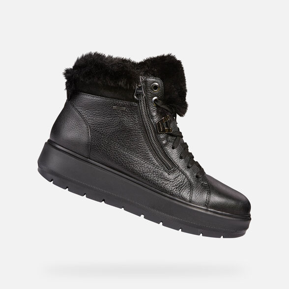 Comandante mostaza Manifestación  Geox KAULA B ABX Woman: Black Sneakers   Geox® Online