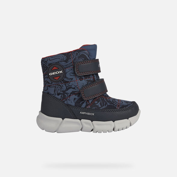 MID-CALF BOOTS BABY GEOX FLEXYPER ABX BABY BOY - AVIO AND RED