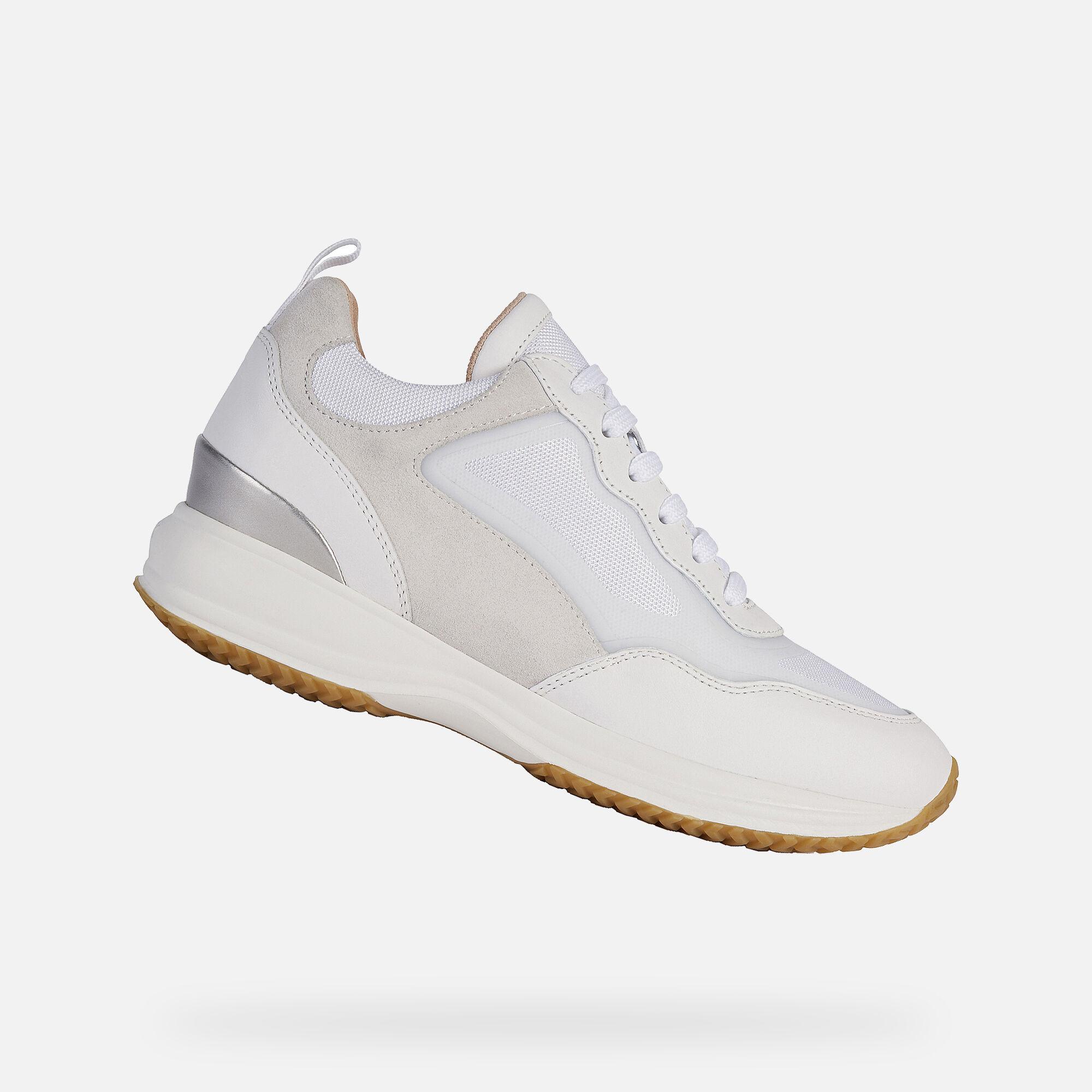 Alla Moda Sneakers Geox Happy A In Nappa Beige Donna Online :