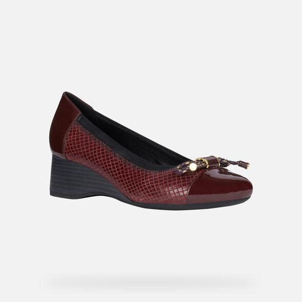 Lionel Green Street Barriga fuego  Geox AUDALYA Woman: Bordeaux Shoes | Geox ® FW 19/20