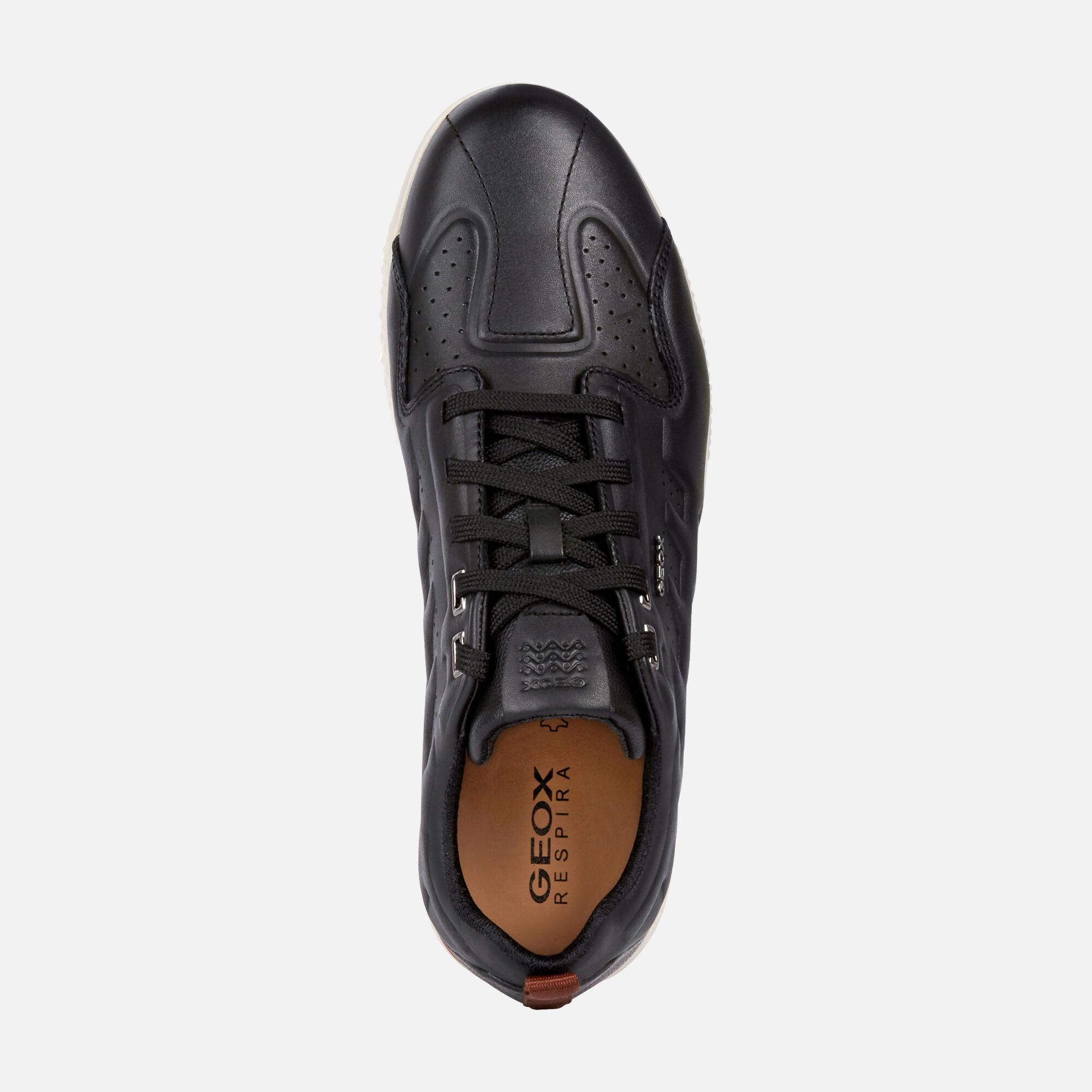 Geox SNAKE.2 Man: Black Sneakers | Geox