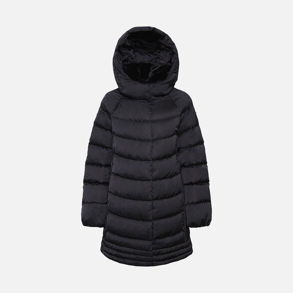 Estado Especialidad Y equipo  Geox CHLOO Woman: Black Down Jacket | Geox® Online Store