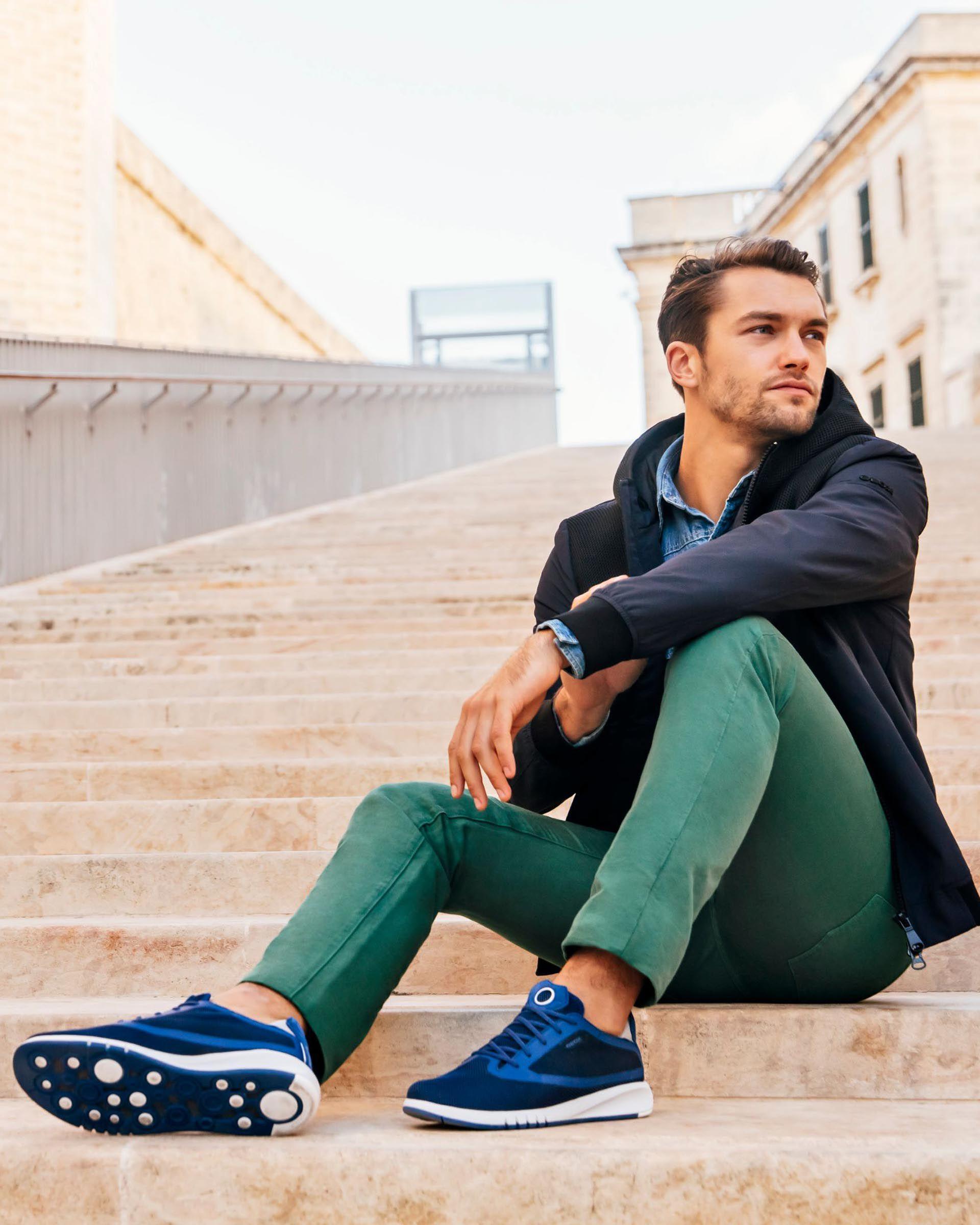 Geox AERANTIS Man: Dk Royal Sneakers