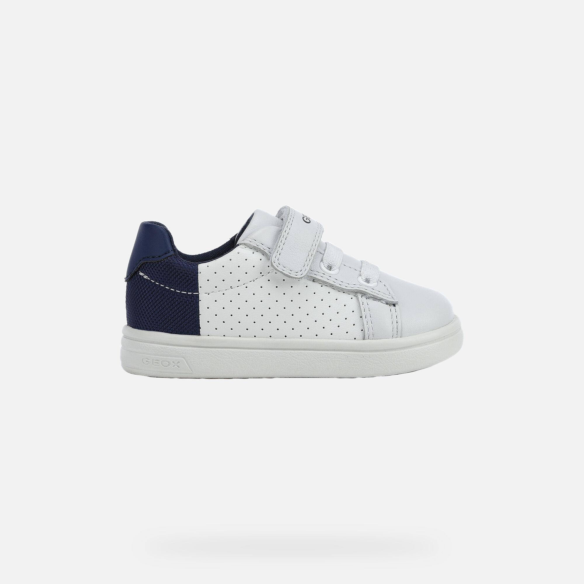 Geox DJROCK BABY Boy: White Sneakers