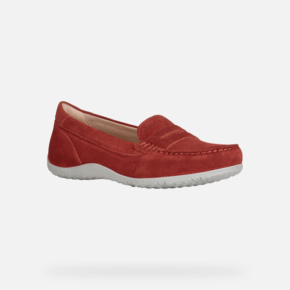 LOAFERS WOMAN GEOX VEGA WOMAN - RED