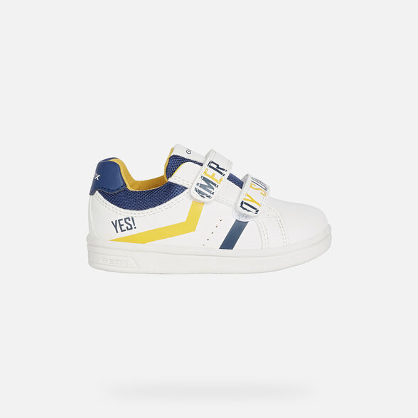 SNEAKERS BABY GEOX DJROCK BABY BOY - WHITE AND NAVY