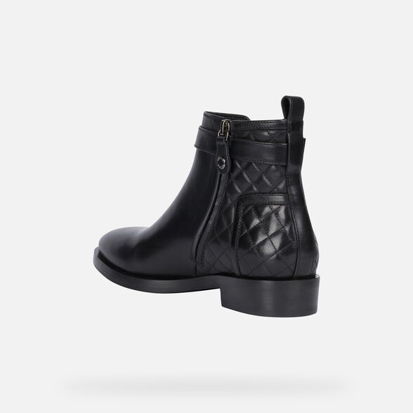ANKLE BOOTS WOMAN GEOX BROGUE WOMAN - 4