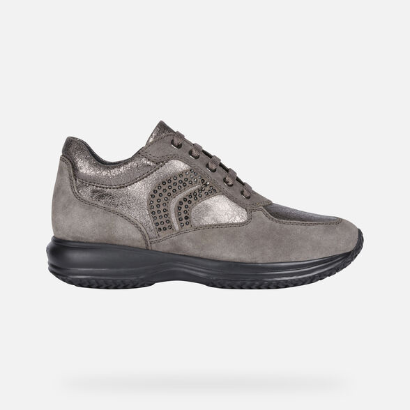 size 40 a3edb b8ae7 Geox HAPPY Woman: Lead Sneakers | Geox ® Official Store