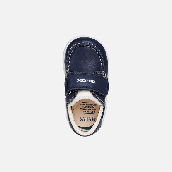 LOAFERS BABY GEOX DJROCK BABY BOY - NAVY BLUE AND WHITE