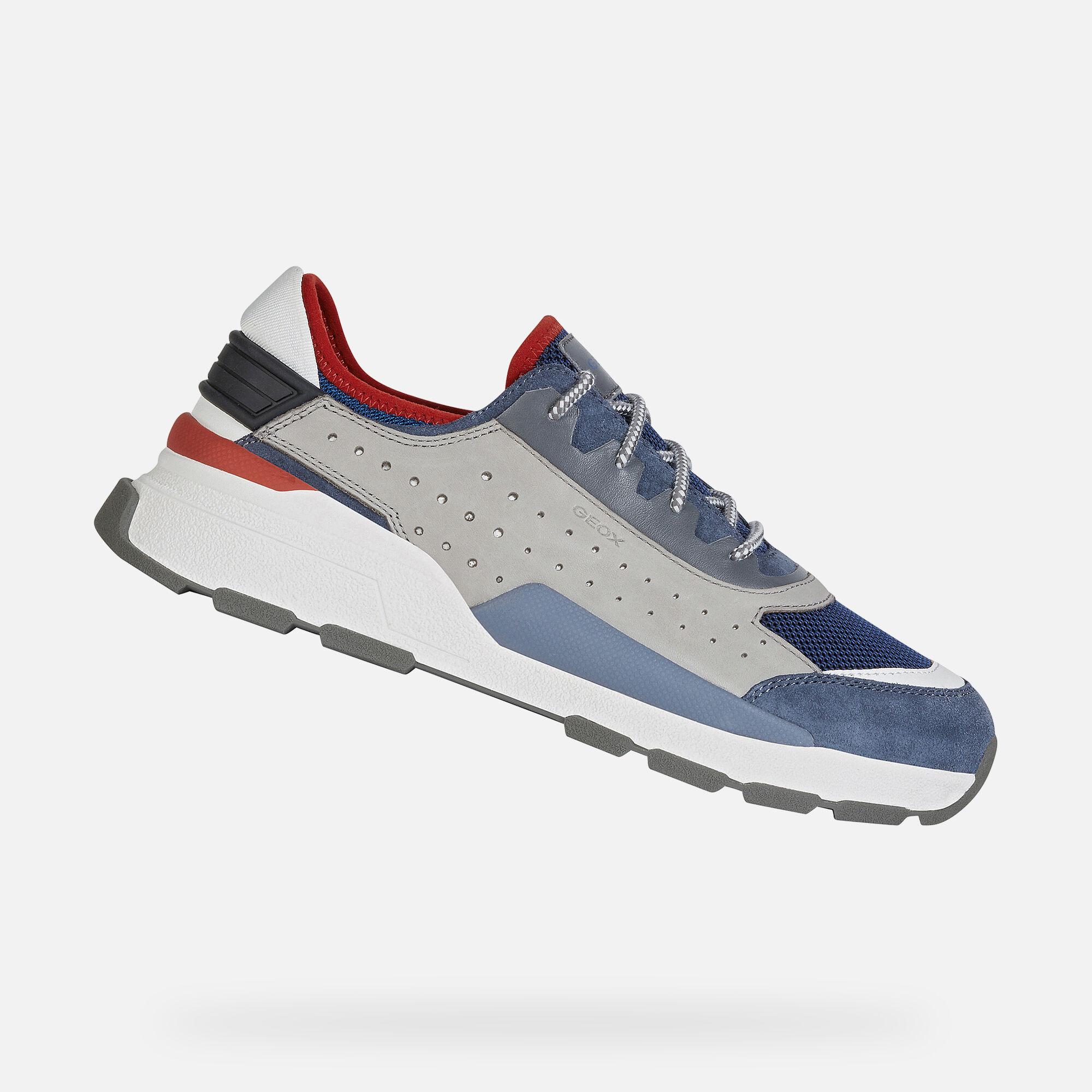Geox REGALE Man: Light grey Sneakers
