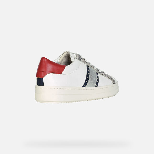 SNEAKERS WOMAN GEOX PONTOISE WOMAN - WHITE AND NAVY