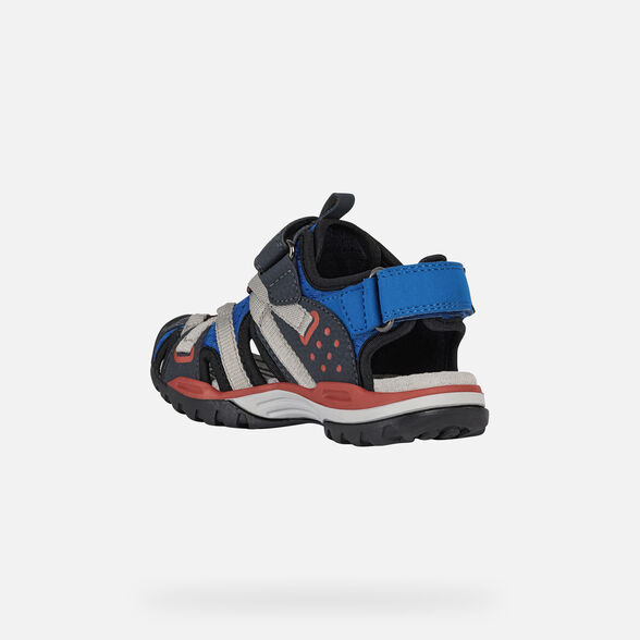 SANDALS BOY GEOX BOREALIS BOY - ROYAL AND RED