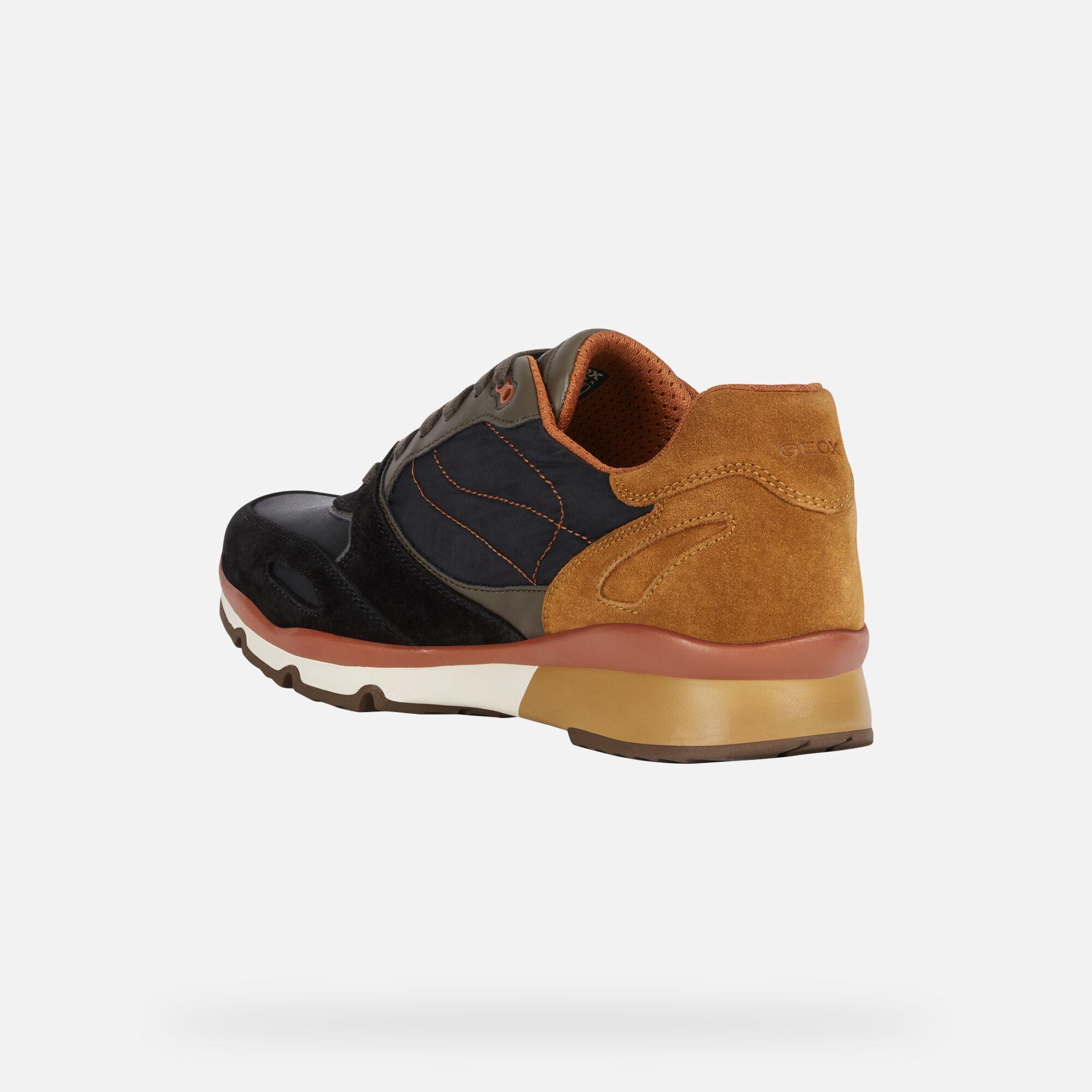 Geox SANDFORD B ABX Uomo: Sneakers Basse Nere | Geox ®