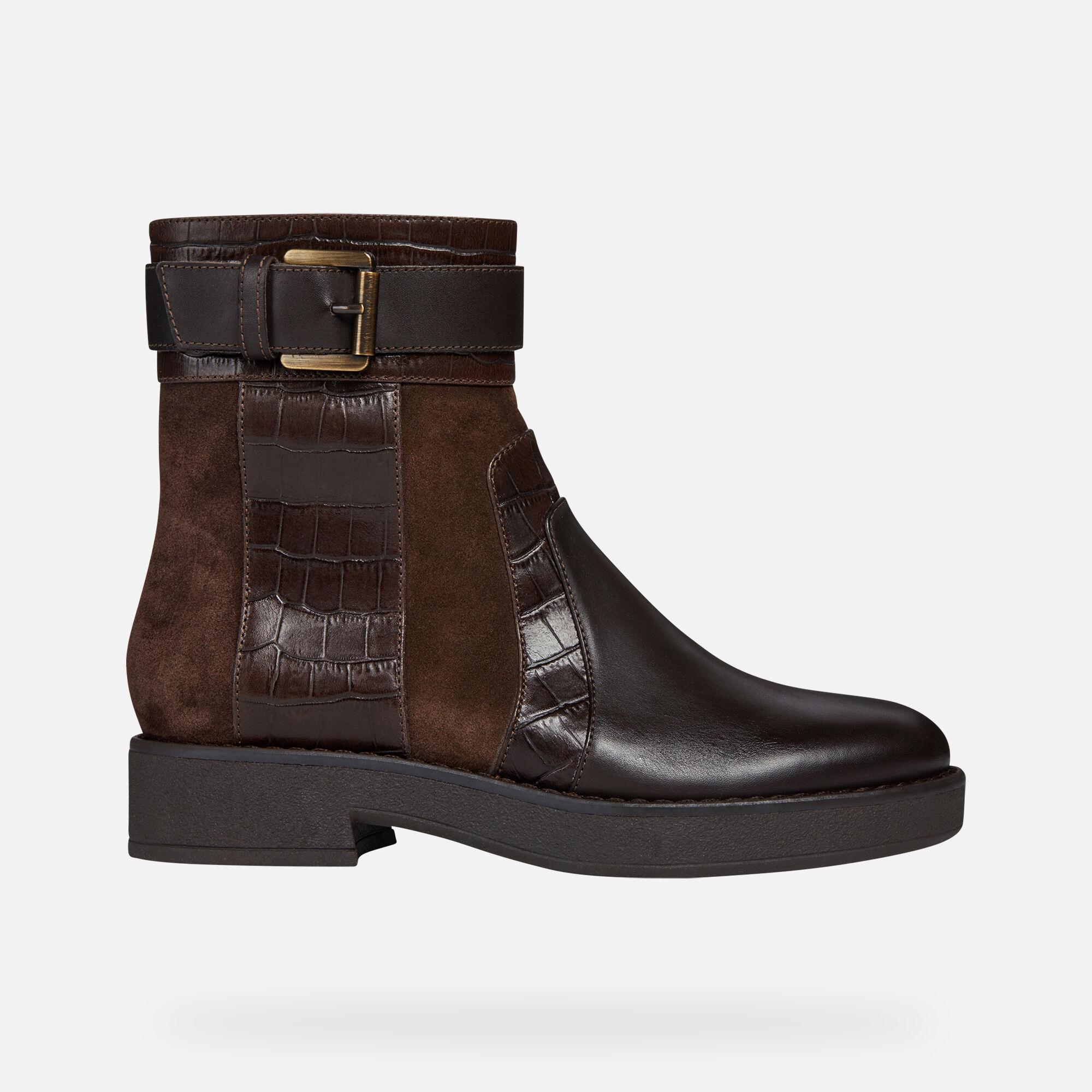 Geox Damen D Adrya A Hohe Stiefel: : Schuhe