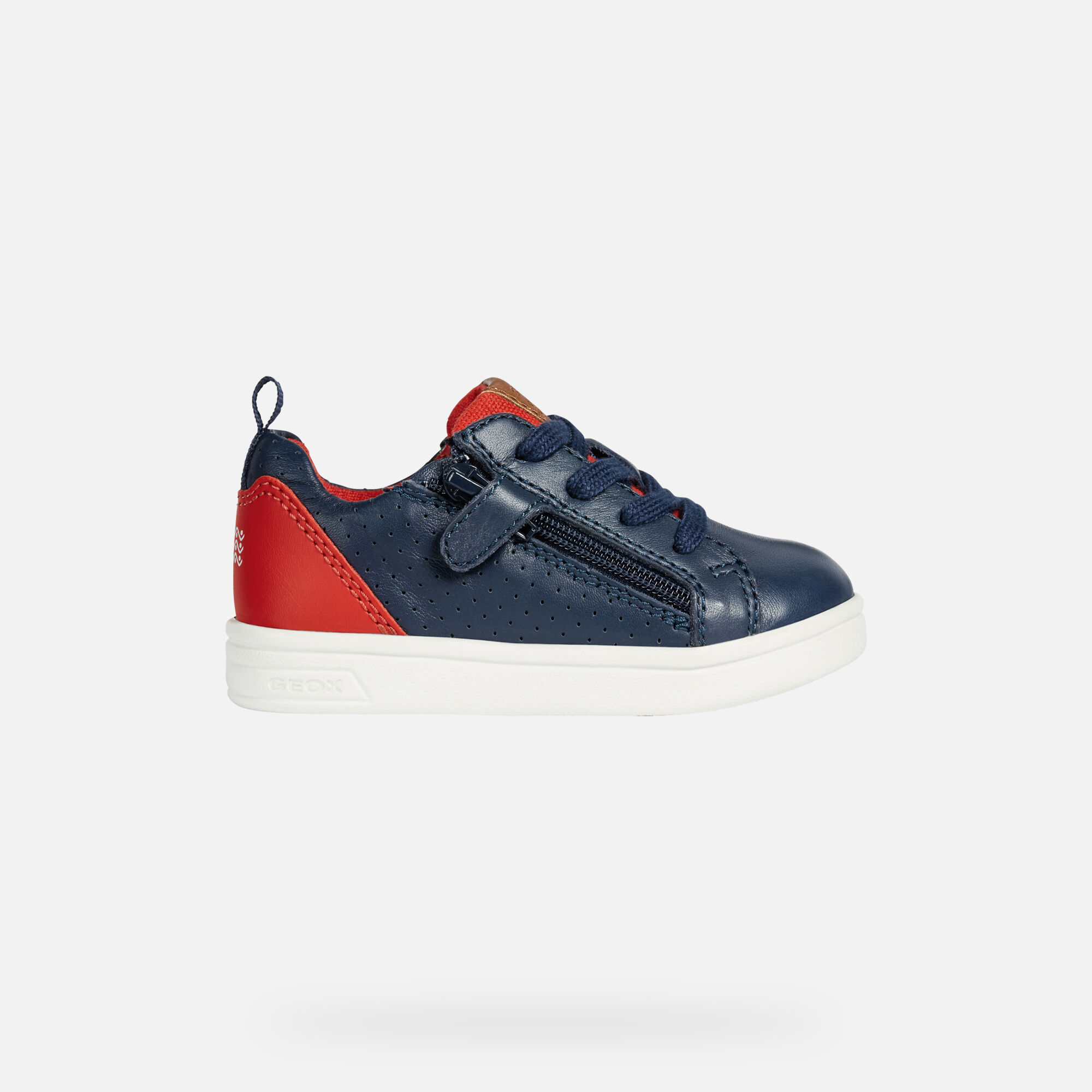 Geox B DJROCK BOY: Blue Navy and Red Baby Sneakers | Geox SS19