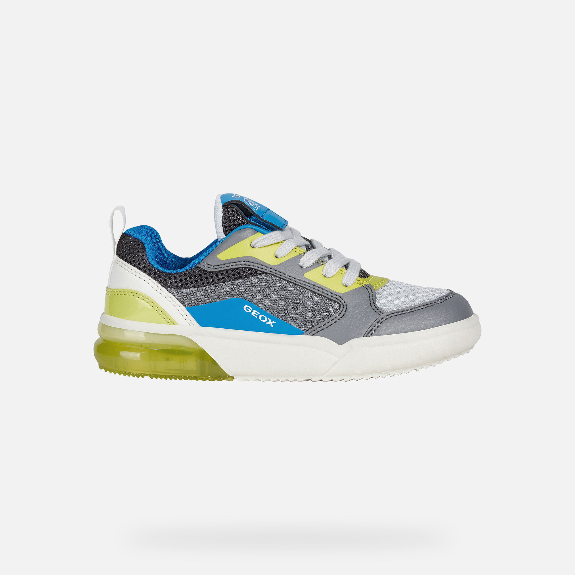 Sneaker Xled blu e gialla con luci Bambino GEOX | L'Angolo