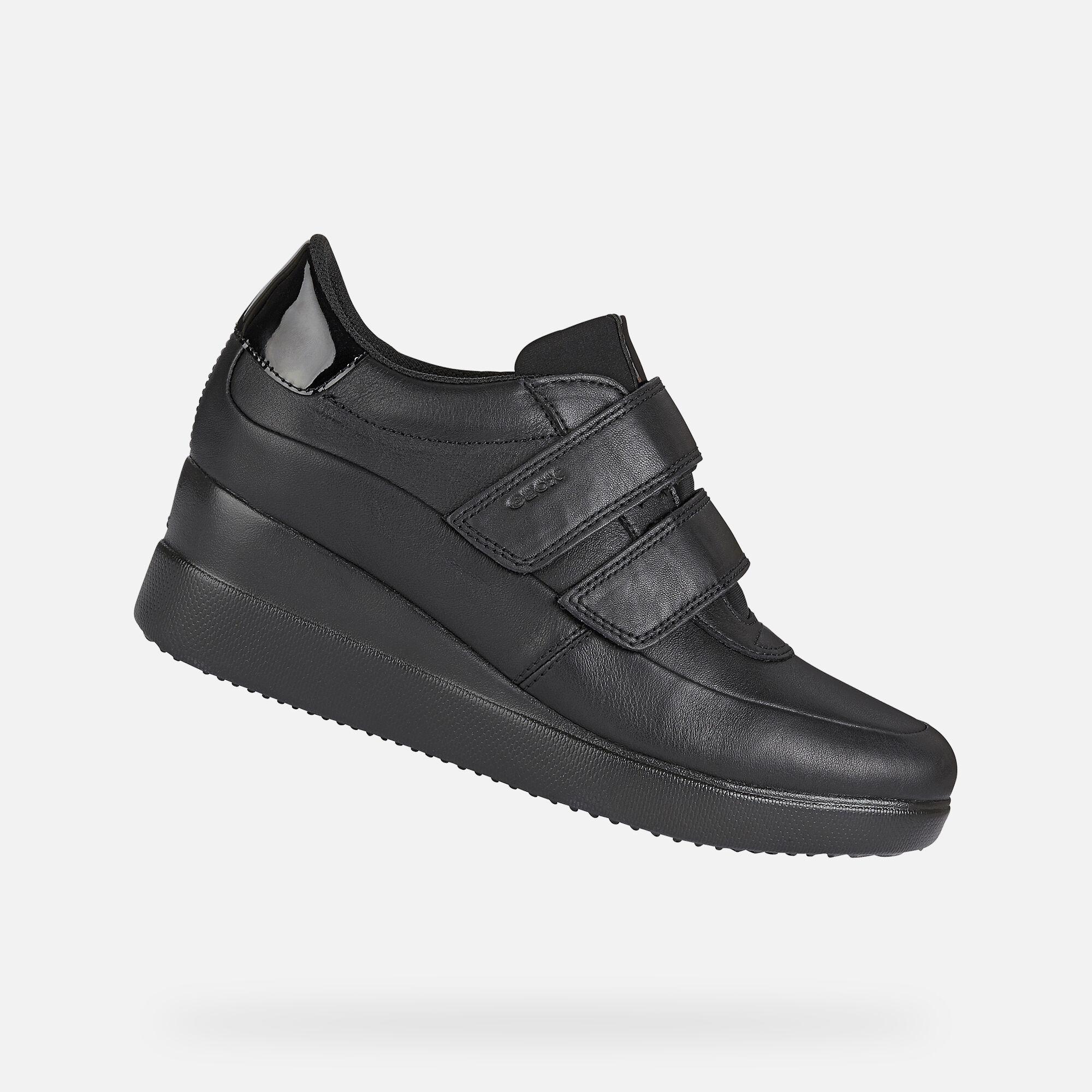 Geox STARDUST Woman: Black Sneakers