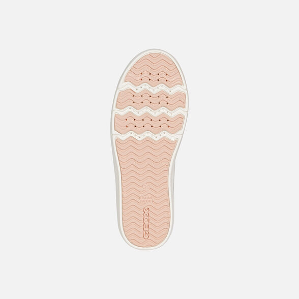 SNEAKERS GIRL GEOX SILENEX GIRL - WHITE AND PINK