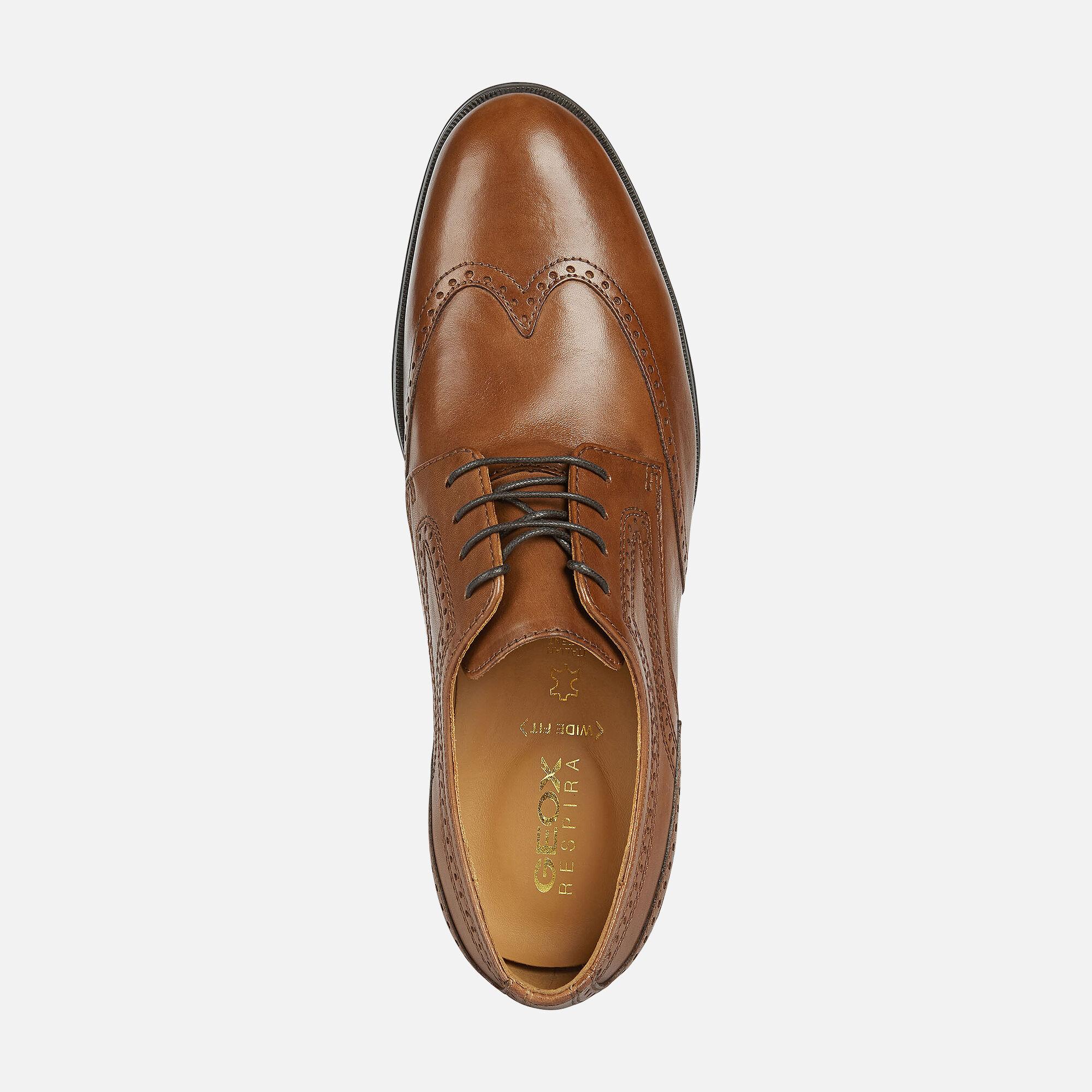 Geox HILSTONE WIDE Man: Cognac Shoes