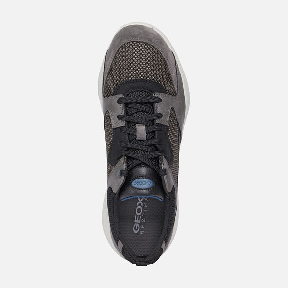 SNEAKERS MAN GEOX ALLENIO MAN - GREY AND BLACK