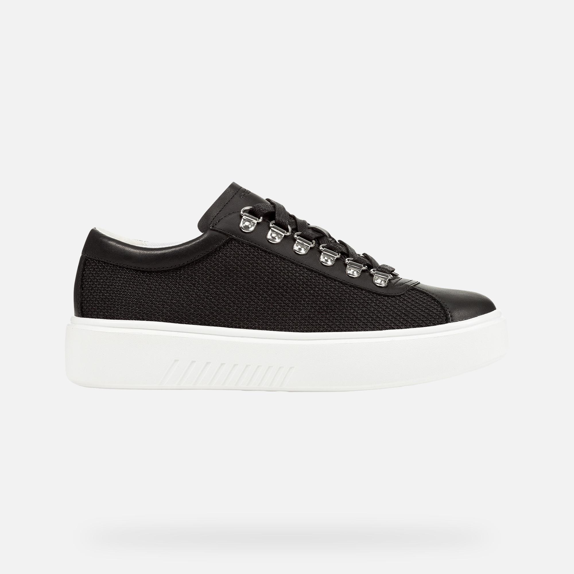 D NHENBUS: Black Woman Sneakers | Geox SS19